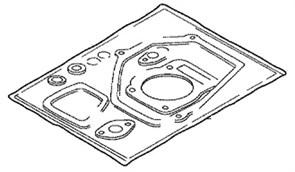 06111-ZDK-000 Комплект прокладок, GP