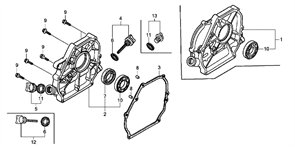 11300-Z4M-630 Крышка блока (картера) (W)
